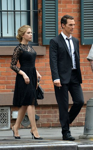 Scarlett Johansson And Matthew McConaughey Look Suave On Set Of New Dolce & Gabbana Advert
