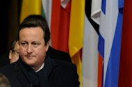 British Prime Minister David Cameron at EU headquarters in Brussels, on February 8, 2013. The British leader&#39;s stance had put him on a collision course with countries such as France and Italy, which wanted increased EU investment to boost growth and curb record unemployment