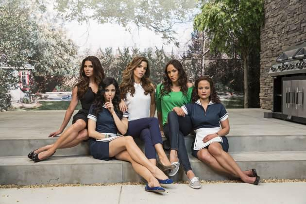 Roselyn Sanchez, Edy Ganem, Ana Ortiz, Dania Ramirez and Judy Reyes in Lifetime's 'Devious Maids' -- Lifetime