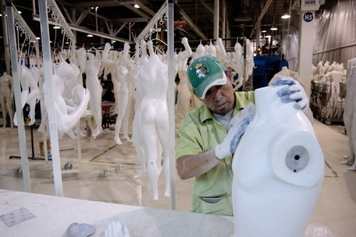 <p>Mexicans workers prepare mannequins in a factory in Ciudad Juarez, Chihuahua state in March 2012. Some analysts say Mexico will surpass Brazil to become Latin America's biggest economy and even challenge China.</p>