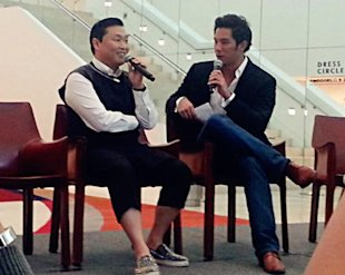 Korean superstar Psy is in town for the Social Star Awards (Yahoo! Photos / Elizabeth Soh)
