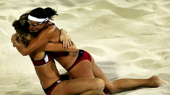 Womens Beach Volleyball Gold Contest