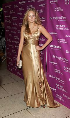 Leelee Sobieski at the New York Film Festival premiere of Fox Searchlight's The Darjeeling Limited