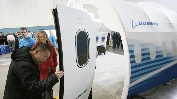 Boeing Co. to build tail part for 787 in Utah