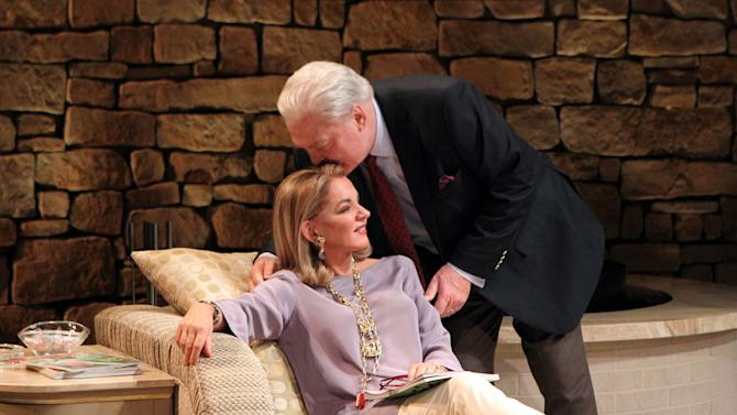 """In this image released by Philip Rinaldi Publicity, Stockard Channing, left, and Stacy Keach are shown in a scene from """"Other Desert Cities,"""" at the Booth Theatre in New York. Channing was nominated for a Tony Award for best actress in a play, Tuesday, May 1, 2012, for her role in """"Other Desert Cities.""""  The Tony Awards will be broadcast live from the Beacon Theatre on CBS, Sunday, June  10. (AP Photo/Philip Rinaldi Publicity, Joan Marcus)"""