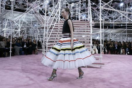 Raf Simons goes psychedelic at Christian Dior haute couture