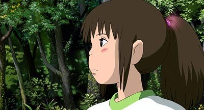 Chihiro in Hayao Miyazaki 's Spirited Away