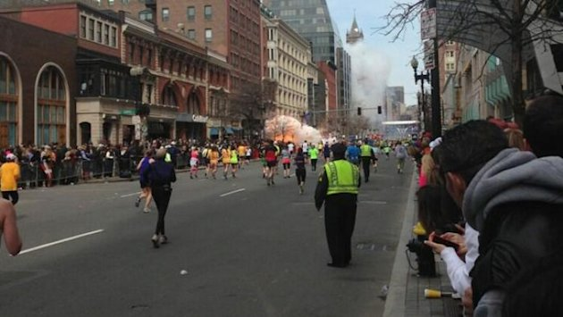 Explosion near Boston Marathon finish line