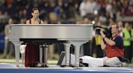 Alicia Keyes performs the US national anthem before the start of Super Bowl XLVII between the San Francisco 49ers and the Baltimore Ravens on February 3, 2013 in New Orleans, Louisiana