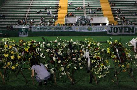 Grieving Brazilian town receives bodies of soccer crash victims