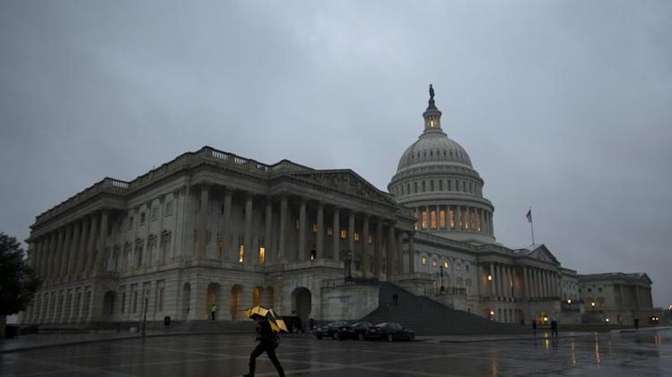 The U.S Capitol Building is pictured at sunset in Washington