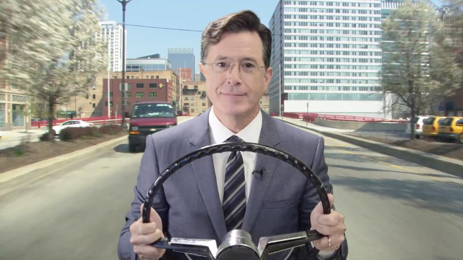 Stephen Colbert's voice will now guide you to your next destination on Waze
