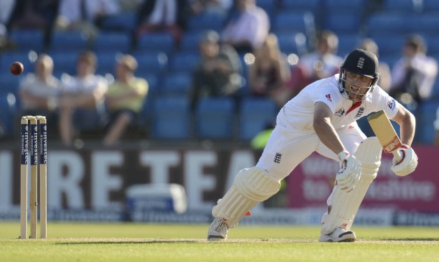 England's Trott starts to run during the second test cricket match against New Zealand at Headingley cricket ground in Leeds