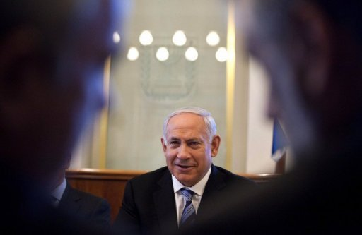 &lt;p&gt;Israeli Prime Minister Benjamin Netanyahu speaks during the weekly cabinet meeting in Jerusalem. The Israeli government on Sunday voted to go ahead with plans to raise the 2013 budget deficit target to three percent of GDP, despite objections from the governor of the central bank.&lt;/p&gt;