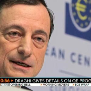 Mario Draghi Gives Details on ECB QE Program