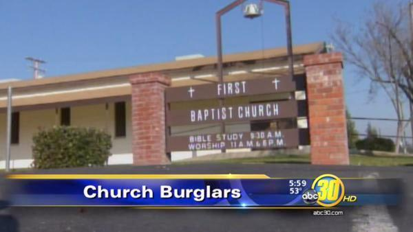 Police say burglars hit a church in Atwater