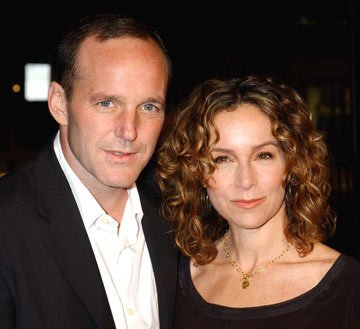 Clark Gregg and Jennifer Grey at the Hollywood premiere of Universal Pictures' In Good Company