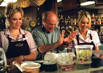 Caroline Rhea , director Mark Rosman and Heather Locklear on the set of Universal Pictures' The Perfect Man