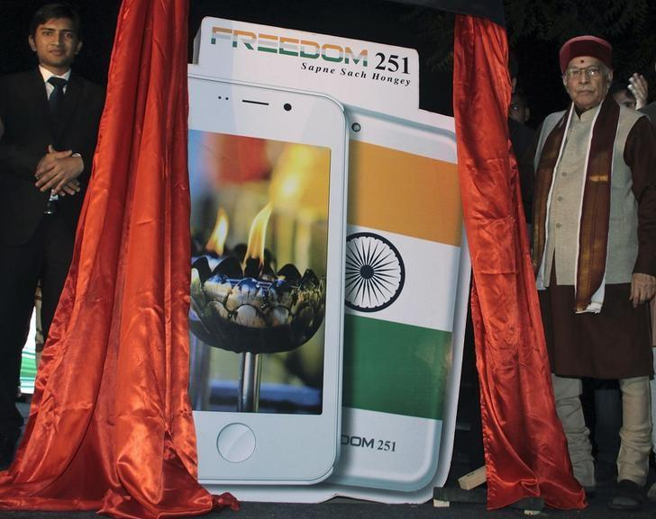 India's $4 smartphone rings alarm bell on workers' conditions, campaigners say