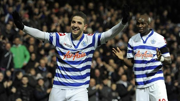 Adel Taarabt, left, netted a brace in QPR's victory over Fulham