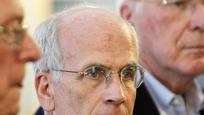 FILE - In this July 2, 2012 file photo, Rep. Peter Welch, D-Vt. speaks in Montpelier, Vt. Minorities _ Hispanics, women, blacks, Asians _ stand as the majority among House Democrats, giving them considerable clout in pushing for the most massive rewrite of the nation's immigration laws in a generation. As the immigration fight shifted to the House, rank-and-file Democrats delivered a simple message to their party leader on Friday: If Republicans who call the shots make good on their promise to bring up single-issue legislation, we'll only go along if it gets us to negotiations with the Senate. (AP Photo/Toby Talbot, File)