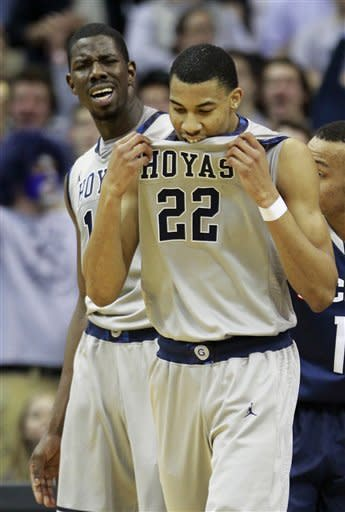 No 14 Georgetown hands UConn 4th straight loss