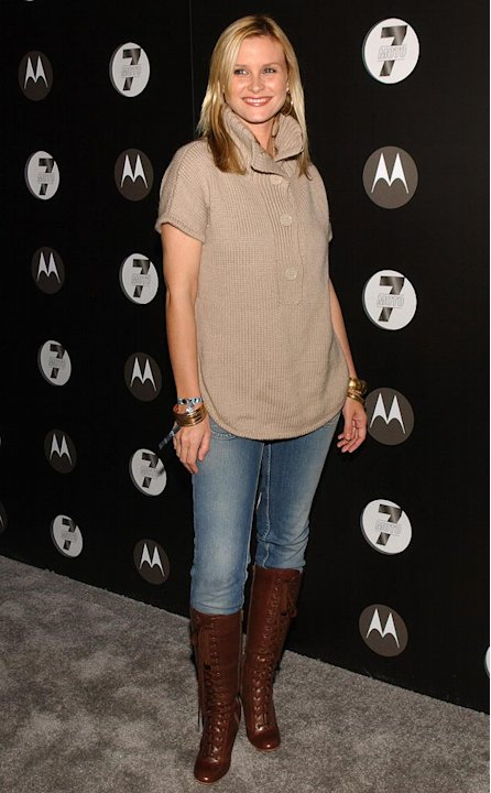 Bonnie Somerville at the Motorola's Seventh Anniversary Party to Benefit Toys for Tots.