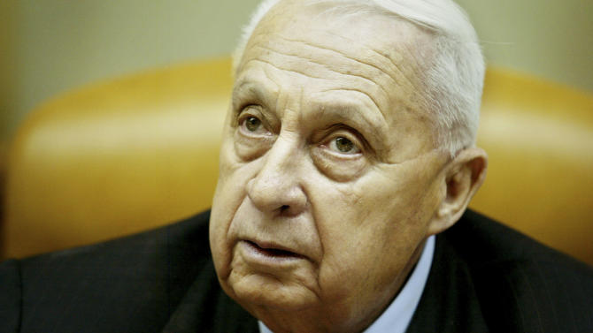 FILE -- In this Sunday Jan. 30, 2005 file photo, Israeli Prime Minister Ariel Sharon pauses during the weekly cabinet meeting in his Jerusalem office. On Wednesday, Jan. 1, 2014 the condition of the comatose former Israeli Prime Minister Ariel Sharon has taken a turn for the worse, the hospital treating him said Wednesday. Sharon, 85, has been in a coma since 2006 when a devastating stroke incapacitated him at the height of his political power. (AP Photo/Oded Balilty, Pool, File)