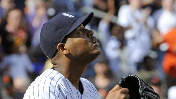 Nova tosses 6-hitter, Yankees beat Giants 6-0