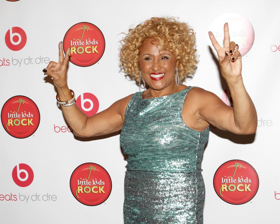 "Singer Darlene Love attends the ""Right To Rock Benefit"" at Cipriani Wall Street, on Thursday, Oct. 17, 2013 in New York. (Photo by Greg Allen/Invision/AP)"
