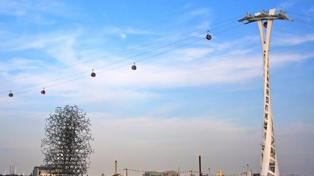 The cable car which spans the Thames from North Greenwich Arena to the ExCeL