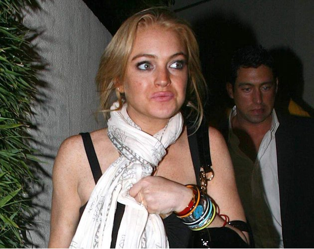 Lohan L BeforeDUI Crash