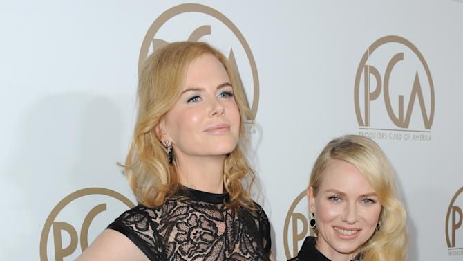 Nicole Kidman and Naomi Watts arrive at the 24th Annual Producers Guild (PGA) Awards at the Beverly Hilton Hotel on Saturday Jan. 26, 2013, in Beverly Hills, Calif. (Photo by Jordan Strauss/Invision for The Producers Guild/AP Images)