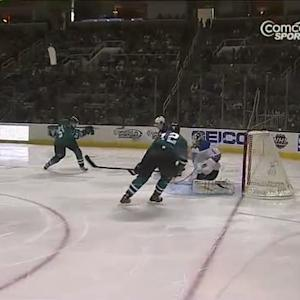Brent Burns strikes 35 seconds in on Elliott