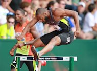 Angelo Taylor competes in the men's 400m hurdles on Day Eight of the 2012 US Olympic Track & Field Team Trials at Hayward Field, on June 29, in Eugene, Oregon. Taylor, the 2000 and 2008 Olympic champion, led eight qualifiers for Sunday's final in 48.77