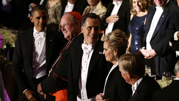 Obama, Romney Trade Barbs, Jokes at Al Smith Dinner (ABC News)