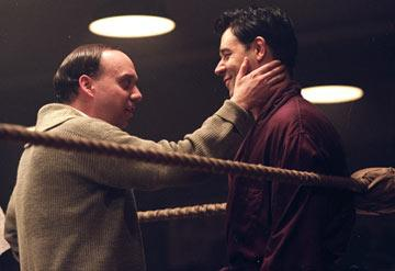 Paul Giamatti and Russell Crowe in Universal Pictures' Cinderella Man