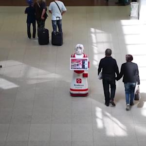 CES 2015: THE FURO-S SMART SERVICE ROBOT WANTS TO HELP YOU CATCH YOUR FLIGHT
