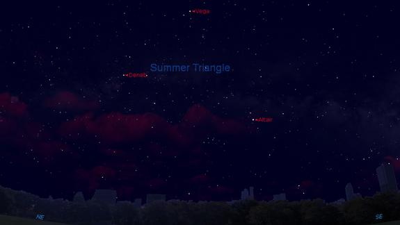 See the Summer Triangle in Night Sky This Weekend