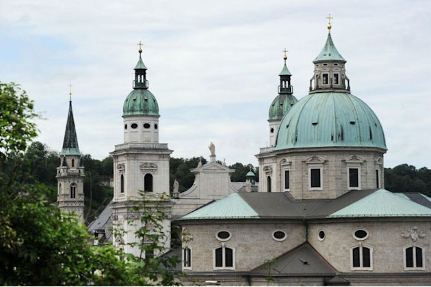The steeples of Salzburg cathedral …