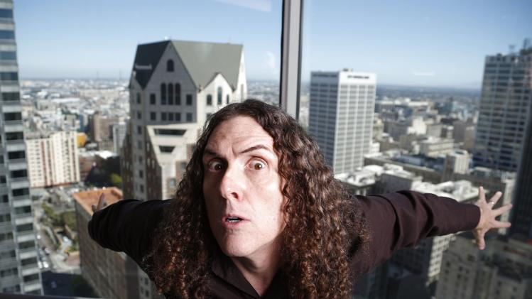 "Musician ""Weird Al"" Yankovic poses for a portrait in the Reuters bureau in Los Angeles"