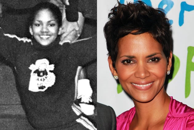 Halle Berry had a lot of school spirit at Heskett Junior High in Bedford, Ohio — Yearbook Library/Getty