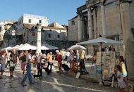 <p>Market in Split, Croatia. (Photo courtesy of Don Maker.)</p>