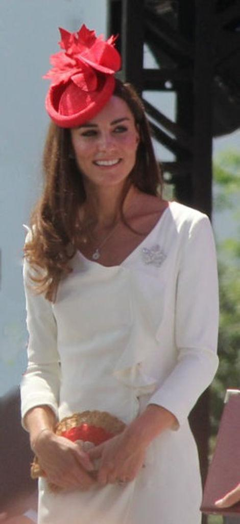 Kate recycled this engagement dress on Canada Day.