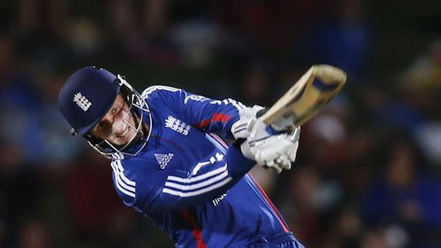 Joe Root of England plays a shot against New Zealand during the second cricket match of their one-day international series at McLean Park in Napier February 20, 2013. (Reuters)