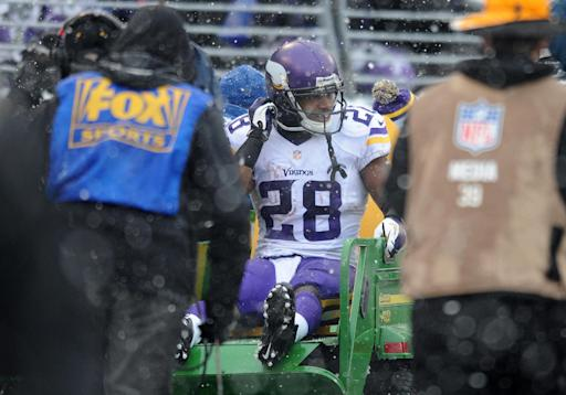 Vikings: Peterson not ready for practice yet