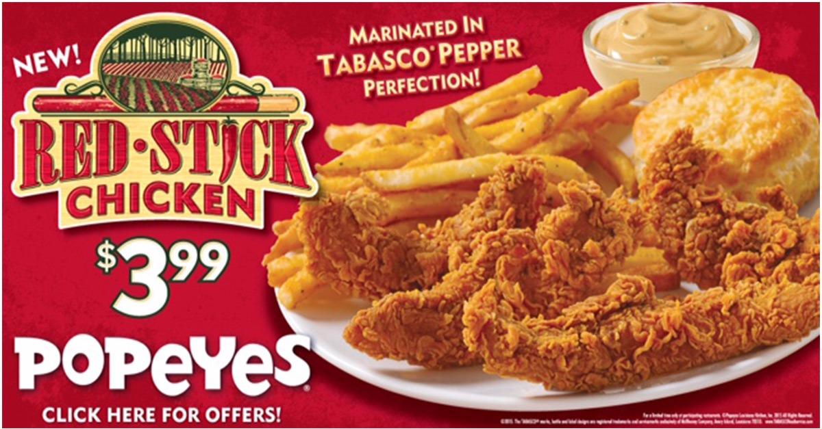 Popeyes Red Stick Chicken