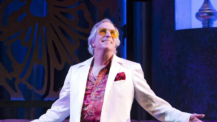"This theater image released by Sam Rudy Media Relations shows Henry Winkler during a performance of ""The Performers,"" in New York. (AP Photo/Sam Rudy Media Relations, Carol Rosegg)"
