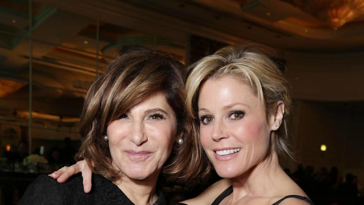 Honoree Amy Pascal of Sony Pictures Entertainment and Julie Bowen at The L.A. Gay & Lesbian Center for 'An Evening Honoring Amy Pascal and Ralph Rucci', on Thursday, March, 21, 2013 in Beverly Hills. (Photo by Eric Charbonneau/Invision for  Sony Pictures Entertainment/AP Images)