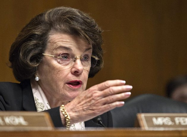 FILE - This June 12, 2012 file photo shows Senate Intelligence Committee Chair, Sen. Dianne Feinstein, D-Calif., speaking on Capitol Hill in Washington. TFeinstein says former CIA Director David Petraeus has agreed to testify to Congress about the Sept. 11 attacks on the U.S. Consulate in Benghazi, Libya, that killed the U.S. ambassador and three other Americans. (AP Photo/J. Scott Applewhite, File)